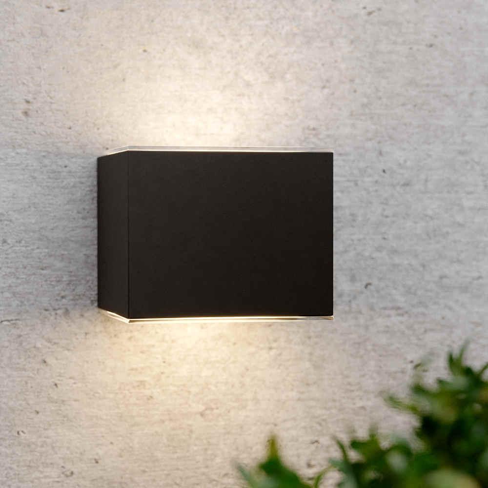 Solar wandlamp up downlight zwart