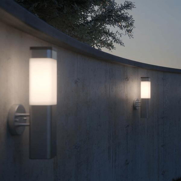 Solar wandlamp Eleganza - chroom