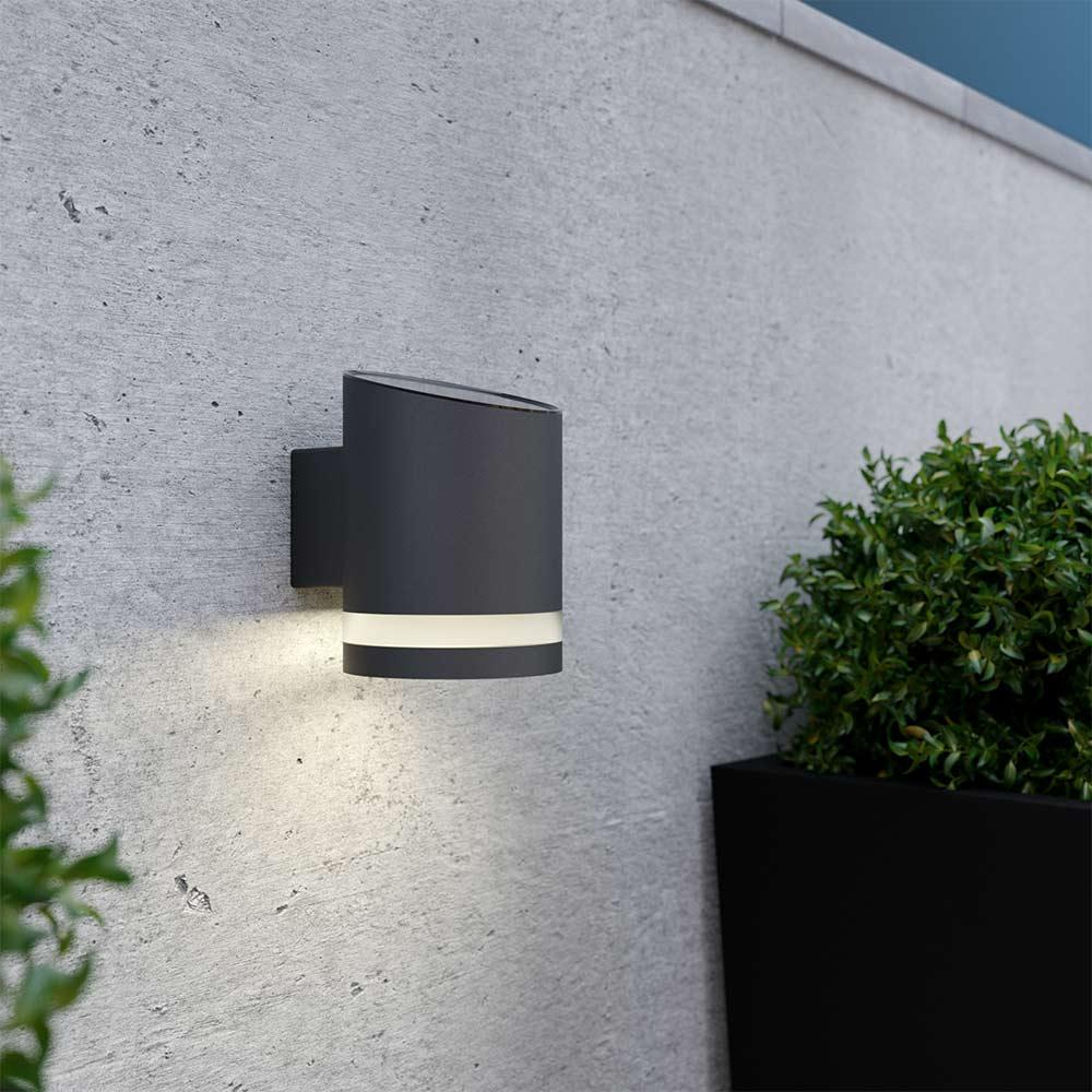 Solar wandlamp Luce - antracietgrijs