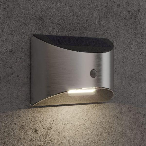 Solar wandlamp Piccolo - chroom