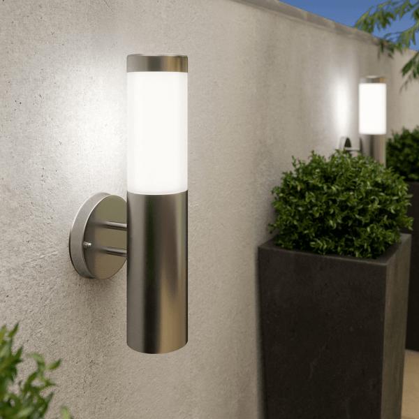 Solar wandlamp Cilindro - chroom