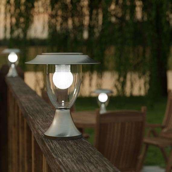 Solar pilaarlantaarn LED