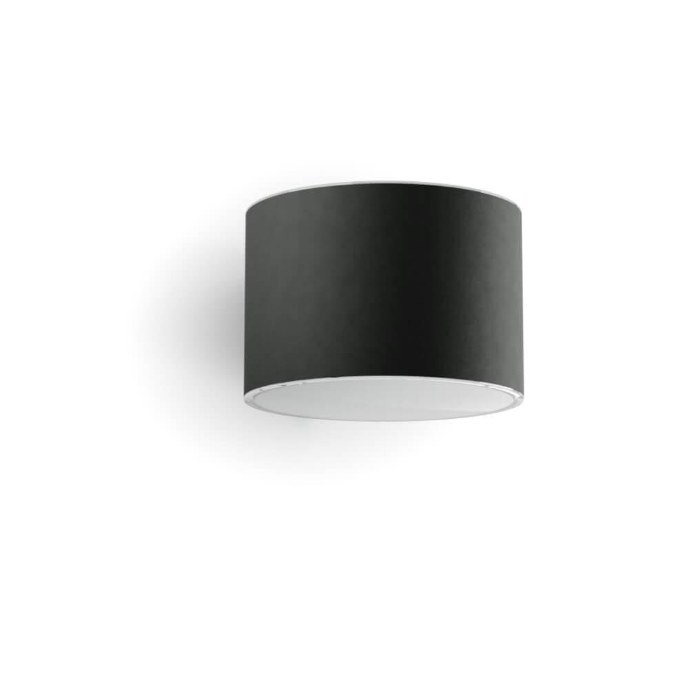 Solar wandlamp LED cilindervormige antraciet - Up downlight