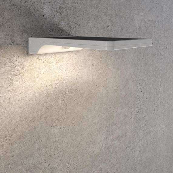 Solar wandlamp LED wit - Design - Bewegingssensor