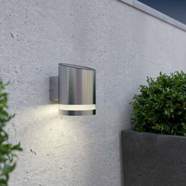 Solar wandlamp Luce – chrome
