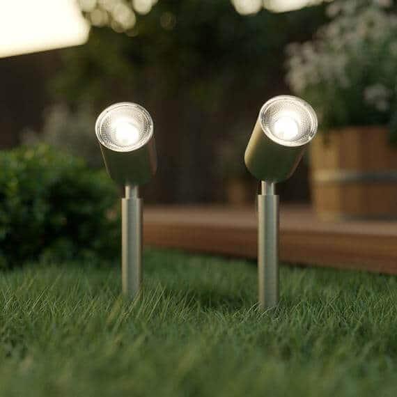 Tuinspots solar LED zwart - Design - set 2 stuks