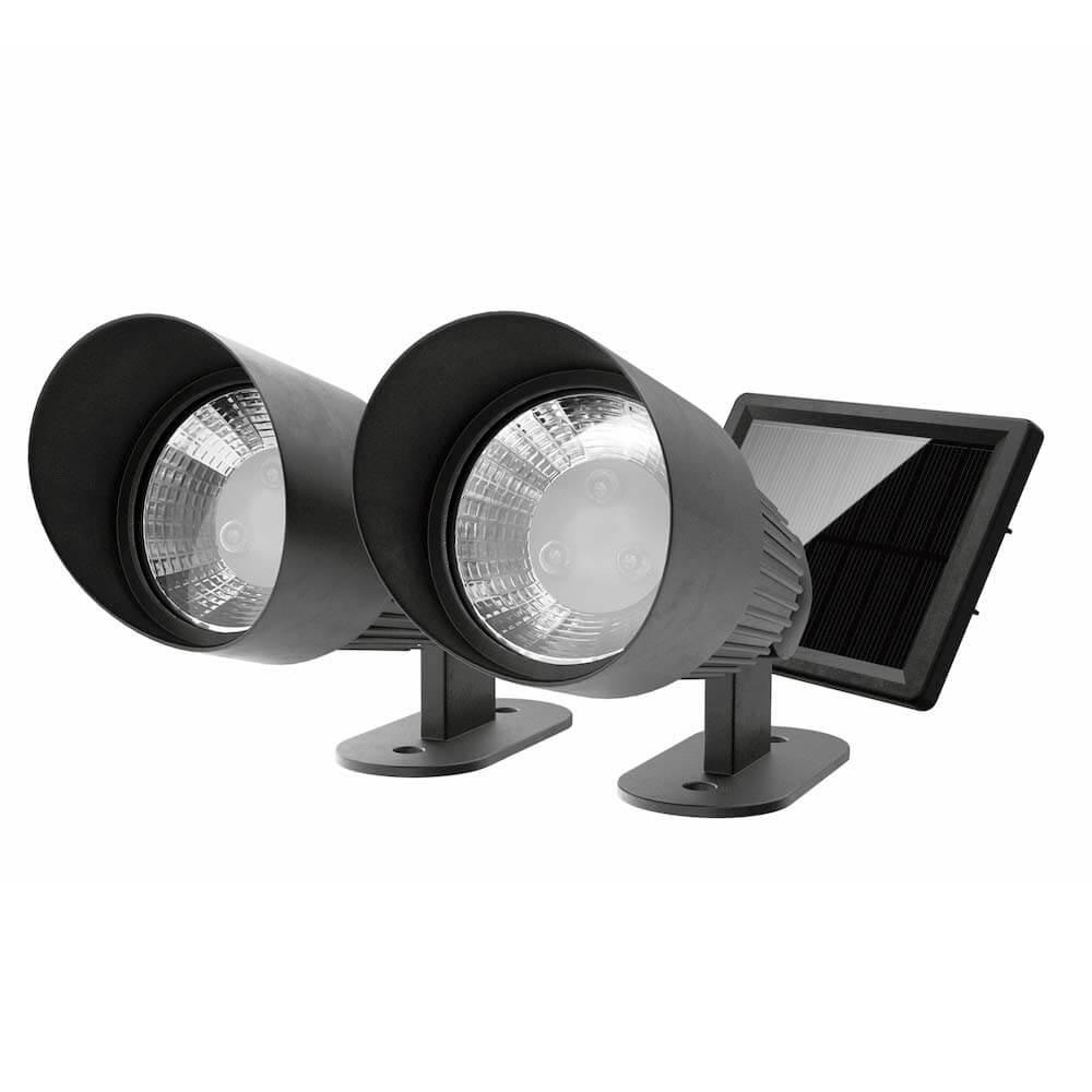 Tuinspots solar LED zwart - Schijnwerpers - set 2 stuk