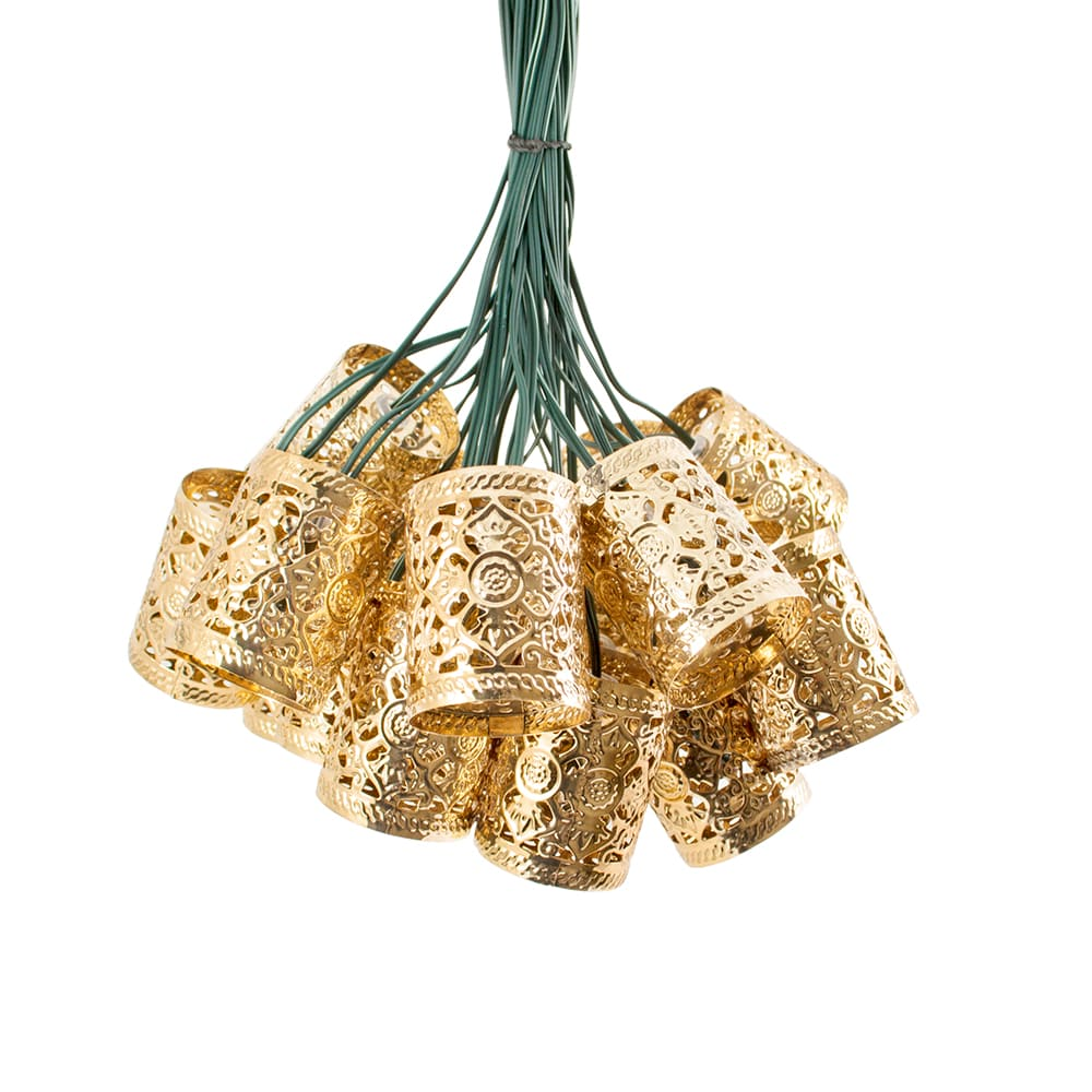Solar lichtsnoer LED Vintage lantaarns - 20 lampen