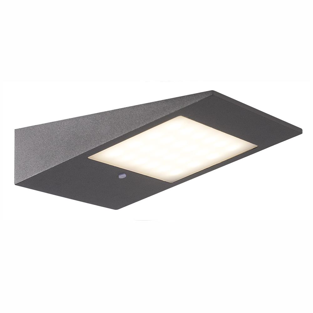 Solar wandlamp - Italiaans Design - Phillips Warm witte LED - Vierkant
